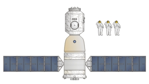 Chinese Shenzhou 9 illustration