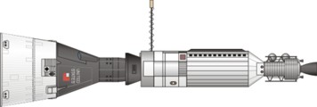 Drawing of Gemini-Agena Spacecraft