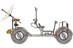 Lunar Roving Vehicle Illustration