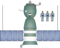 Soyuz Spacecraft Drawing