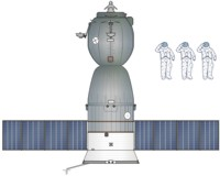 Soyuz-TM Spacecraft Drawing