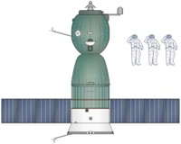 Soyuz-T Spacecraft Drawing