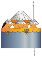 Pioneer Venus multi-probe illustration.