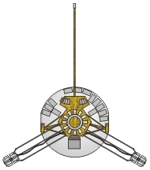 Drawing of Pioneer 10 probe
