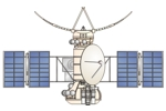 Drawing of Venera 15 Venus probe