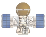 Drawing of Venera 9 Venus probe