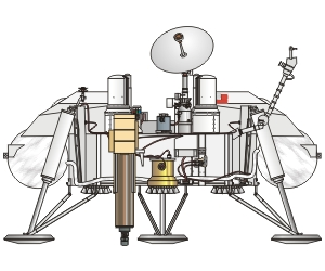 Viking Mars Lander Illustration
