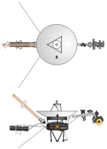 Drawing of Voyager space probe