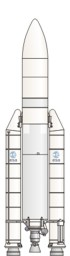 Ariane 5 rocket illustration