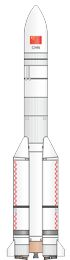 Chinese CZ-5 rocket illustration