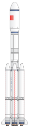 Chinese CZ-7 rocket illustration