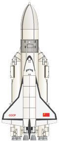 Soviet Buran rocket illustration