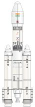 Indian LVM3 rocket illustration