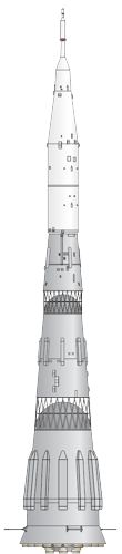 Soviet N1 rocket illustration