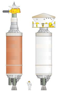 Centaur D-3 stages with payloads.