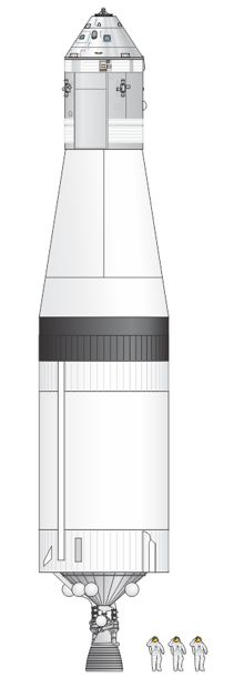 Saturn IVB Stage and Apollo.