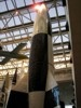Looking up at V-2 rocket