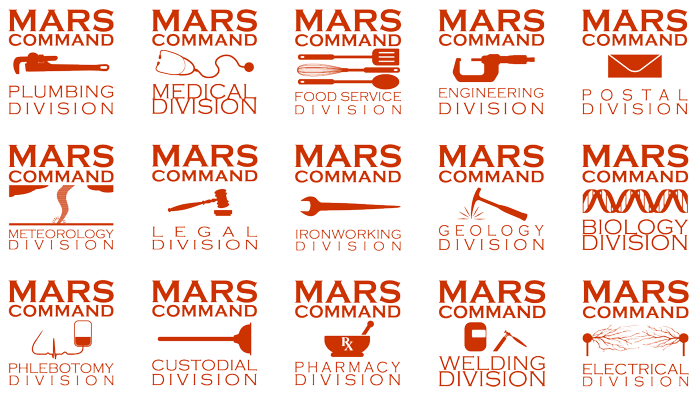 Mars Command gift designs.