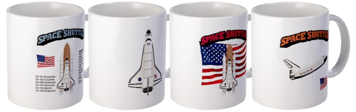 Space Shuttle Mugs.