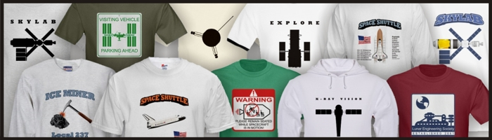 Space exploration t-shirts.